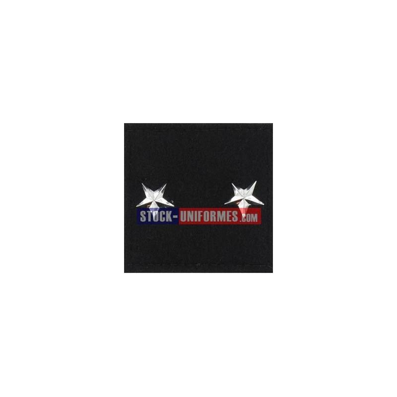 Général 2 étoiles gendarmerie galon velcro
