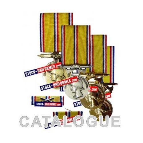 La gamme de médailles d'ancienneté pour Sapeurs-Pompiers