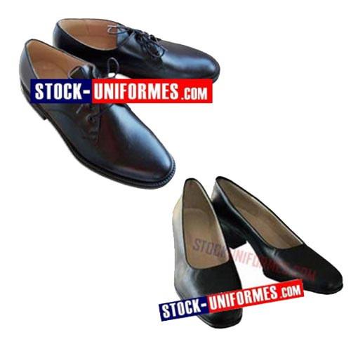 Chaussures de cérémonie pour sapeur pompier