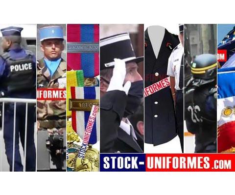 les métiers de l'uniformes